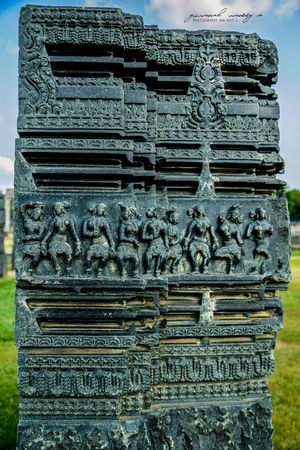 Stone Carving in Warangal India 800years of history . Symbol of Indian Culture and art