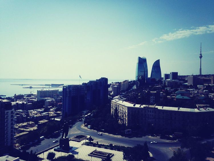 Baku Azerbaijan Sky Flametowers