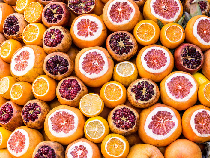 Cut oranges and pomegranate at a shop in Karakōy, Istanbul Abundance Citrus Fruit Close-up Food Food And Drink Fruit Healthy Eating Large Group Of Objects Wellbeing
