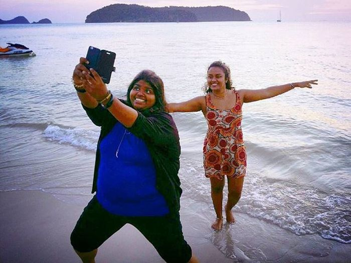 All the hype about the duck face..id settle for the 'duck in the water' pose Langkawiisland Langkawi Iglangkawi Igers LastYear 6strangerscollide Instapic Instamood Sunsetbythesea Beach Beachlife