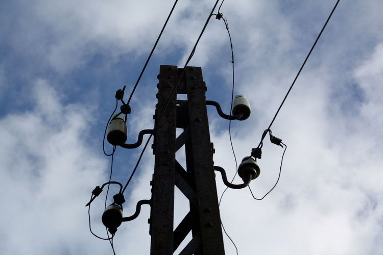 Cable Close-up Clouds Communication Day Electricity  Low Angle View No People Outdoors Sky Telefone Mast