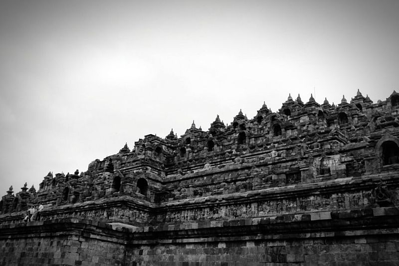 Black And White Ancient Architecture INDONESIA