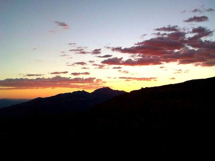 Sunset Catalina Mountains  once upon a time