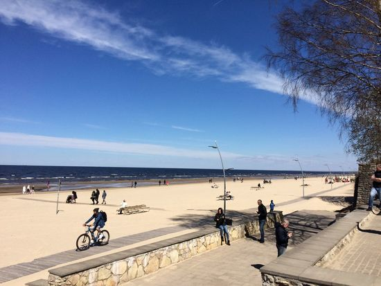 Sun Beach Jurmala Sea And Sky Sea People Sport Spring