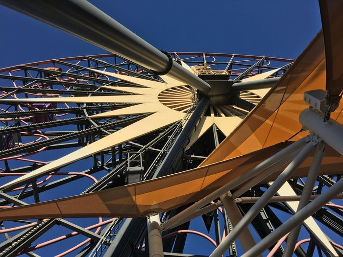I love ferris wheels! Clear Sky Low Angle View Built Structure Architecture Sky Outdoors No People Day Ferris Wheel Disneyland