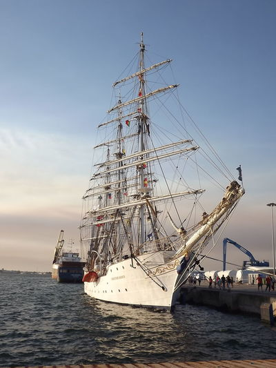 Boat Cloud Day Majestic Mast Mode Of Transport Nautical Vessel Portugal Sailboat Sailing Scenics Sea Ship Sky Tourism Tranquil Scene Transportation Travel Destinations Vacations Water Water Surface Ilhavo No Filter, No Edit, Just Photography