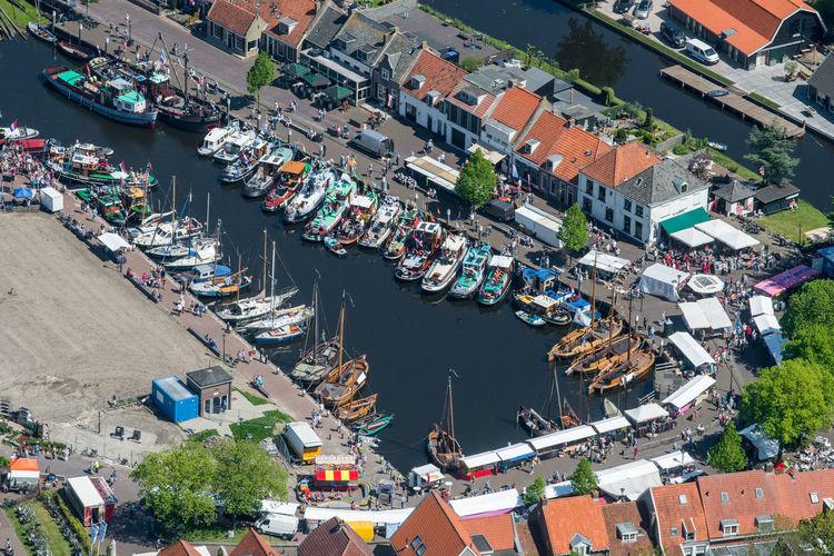 Elburg Aerial Shot Harbor Harbour Netherlands The Netherlands Aerial Photography Aerial View Boats Dutch Dutch Landscape Elburg Harbor High Angle View Holland Moored Nautical Vessel Sleepbootdagen Typical Dutch Water
