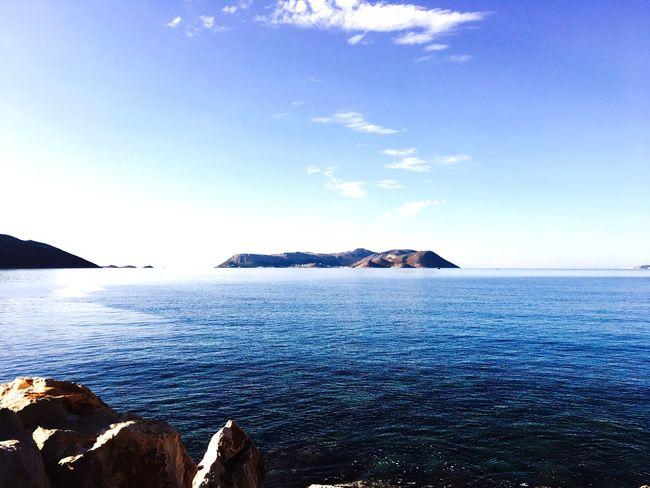 Meis adasına Kaş'tan bakış.. Sea Water Sky Nature Blue