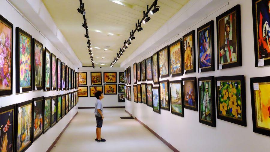 Admiring art