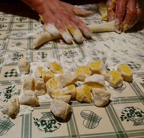 Preparation  Close-up Food Pasta Time Making Pasta Gnocchihomemade Gnocchi Di Patate Feeling Home