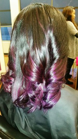 Salon Hairstyles Hair New Hair Color :) Feeling Awesome Love ♥ Black&purple
