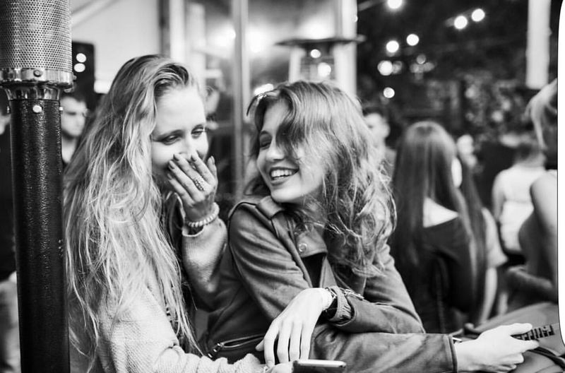 Giggle TakeoverContrast Young Women Blonde Girl Long Hair Mature Adult Focus On Foreground Togetherness Women Who Inspire You Travel People Abstract Outdoors Popular EyeEm Best Shots Sensuous Dramatic Angles Girls Fashion Lifestyles Illuminated Feminity MonochromePhotography