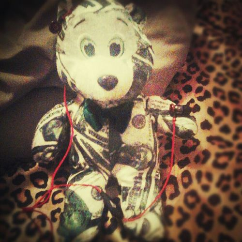 two things i luv the most are my money bear and my beats<3