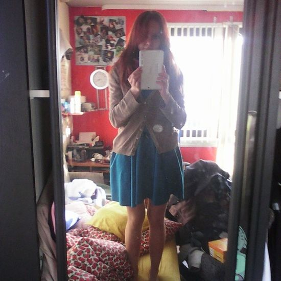 Sukienka Zawsze Spoko Insta sie psuje :-( instaphoto instagirl instaclothes outfit bored girl gingerhair redhair polishgirl polishlook Poland look l4l www.akostorz.photoblog.pl