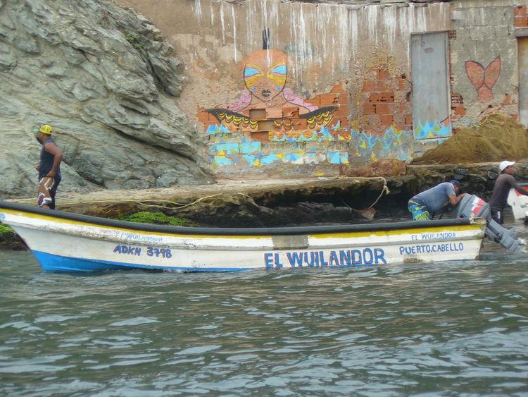 Boat Choroni Lifestyles Mural Mural Art No Filter, No Edit, Just Photography Nature Outdoors Playa Venezuela Water