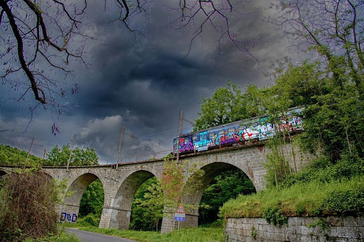 Viterbo Arch Arch Bridge Arched Architecture Bare Tree Bridge Bridge - Man Made Structure Building Exterior Built Structure Cloud - Sky Connection Day Fornacchia Italy Landscape Low Angle View Nature No People Outdoors Plant Sky Train Transportation Travel Destinations Tree Water