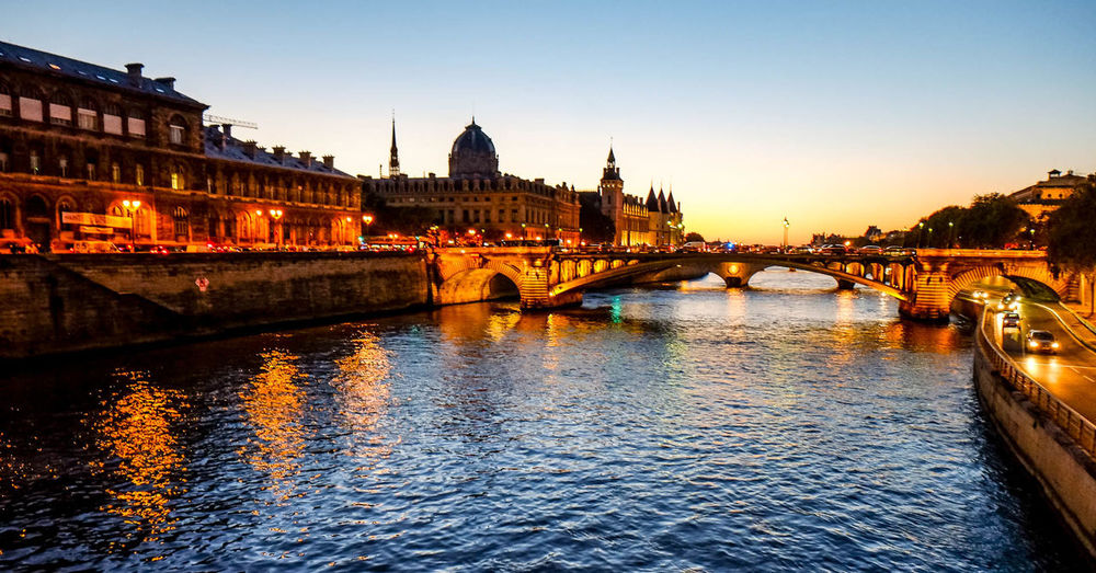 Paris Paris By Night Sunset_collection La Seine By Night