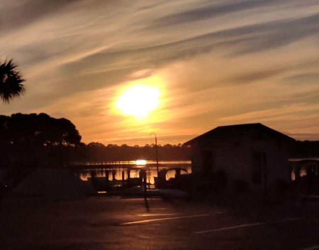 sunset at the marina Sunset Cloud - Sky Outdoors No People Sky