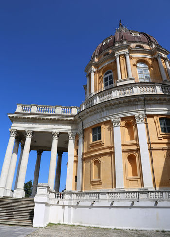 Basilica of Superga near Turin in Italy Basilica Superga Superga (To) Torino Turin Piemonte Piedmont Italy Place Place Of Worship Worship Church Religion Art Baroque Style Architecture Architectural Column History Travel Destinations Religion Dome No People Day Sky