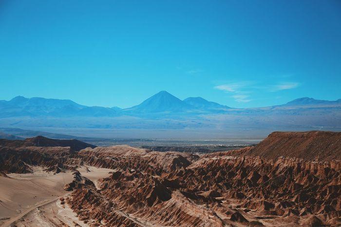 Atacama Desert Blue Chile Desert Experience Rural Salar Sky Sun Travel Traveling