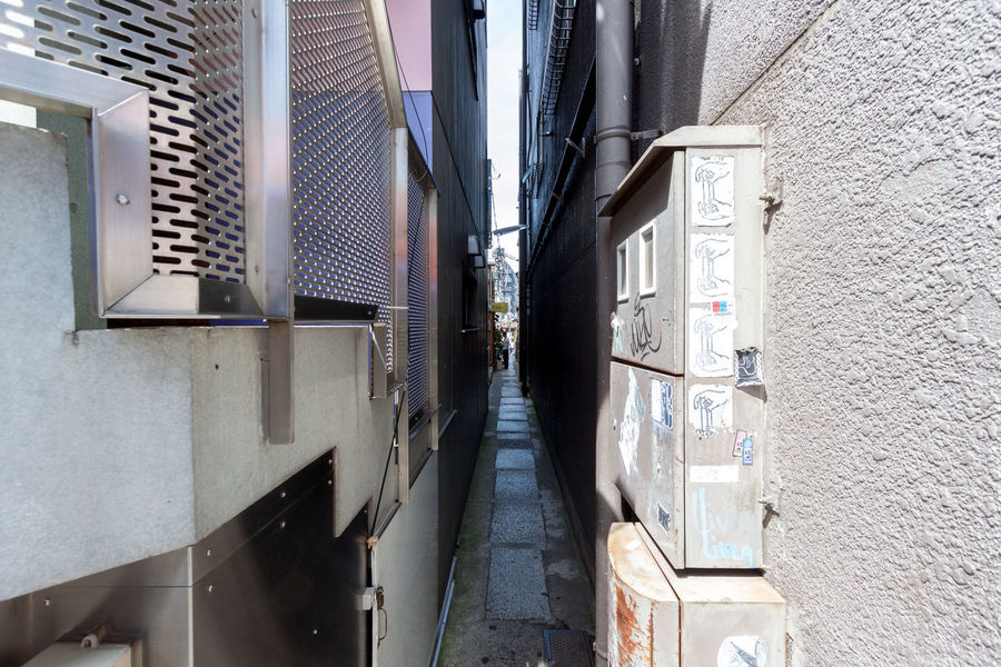 Tight squeeze down a small alleyway between two buildings. And yes, people use it. Absence Architecture Building Building Exterior Built Structure City City Life Cityscapes Cramped Empty Eye4photography  EyeEm Best Shots Kagurazaka Lane Narrow Narrow Old Railing Taking Photos Urban Wall Window