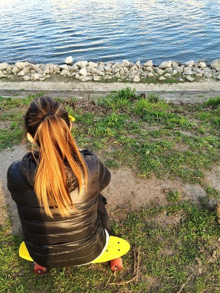 Girl Brunette Spring Springtime Outdoors Activity Longboard MiniCruiser River Danube Budapest Young Women Young Free Young Wild And Free(; Yellow Green Red Skateboarding Hike Island Thinking Summer Is Coming Hanging Out Gillyflower Cute