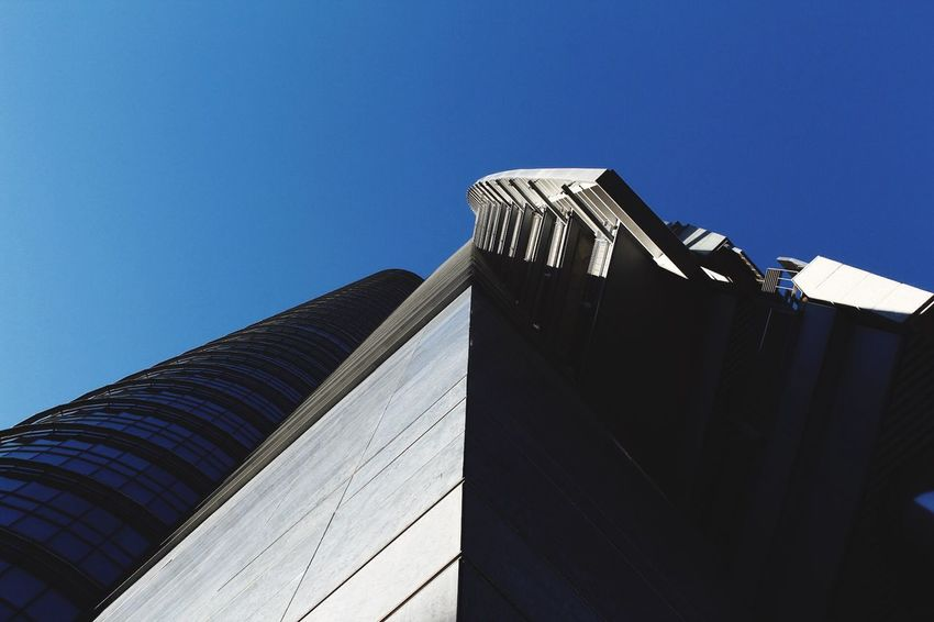 Vertigo Building Exterior Architecture Clear Sky Blue Sunlight Modern Day Autumn Light And Shadow Outdoors Milan Built Structure Streetphotography The Graphic City