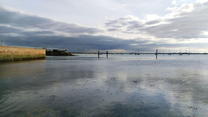 Coast Sea Sea And Sky Chichester Harbour Calm Shore Reflections Calm Water Relax