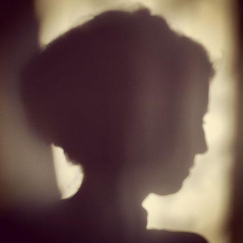 Close-up portrait of silhouette man
