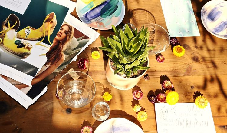 High Angle View Table Indoors  Directly Above Paper Drinking Glass Day Food Healthy Eating No People Freshness Ready-to-eat