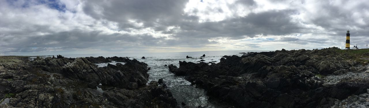 Sea Water Tranquil Scene Scenics Horizon Over Water Rock - Object Tranquility Panoramic Beauty In Nature Rock Formation Sky Beach Cloud - Sky Non-urban Scene Nature Shore Tourism Rocky Geology Physical Geography