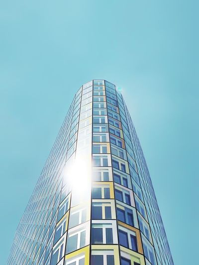 Adac headquarter Built Structure Building Exterior Low Angle View Architecture Office Building Exterior Building Sky Modern No People Sunlight
