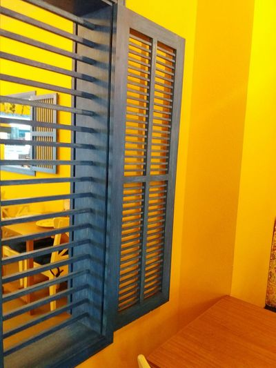 Lively interior Window Blue Yellow Multi Colored Interior Design Decoration Design Designer  Louver Fresh Comfort Table Frame Wall Contrast Homogeneous Match Abu Dhabi UAE