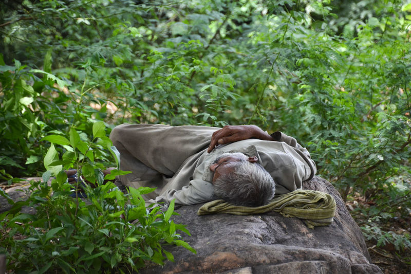 Daytime nap Adult Beggar Day Green Grey Man India Nap One Person Outdoor Sleeping Outdoors People Sleeping Man Travel Photography