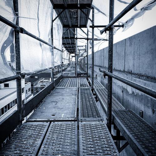 Empty railway bridge against sky