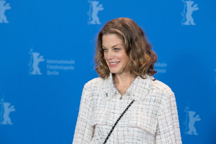 Berlin, Germany - February 19, 2018: German actress Marie Baeumer poses at the '3 Days in Quiberon' (3 Tage in Quiberon) photo call during the 68th Berlinale Film Festival at Grand Hyatt Hotel Famous German Marie Baeumer Marie Bäumer Photocall Woman Actress Beautiful Woman Berlinale Berlinale 2018 Berlinale Festival Berlinale2018 Berlinale68 Cheerful German Actress One Person One Woman Only People Photo Call Popular Portrait Pose Posing Posing For The Camera Woman Portrait