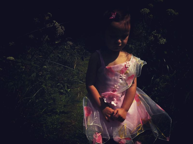 Melancholic fairy Little Girl Portrait Of Innocence Fairy Fairytales & Dreams Melancholy Darkness And Light EyeEm Best Shots - People + Portrait Picturing Individuality Women Who Inspire You