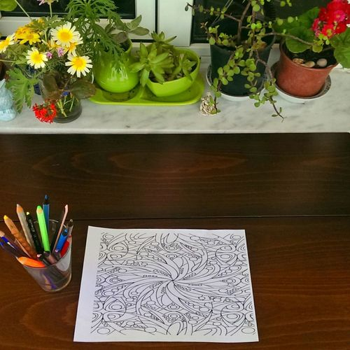 Taking Photos Check This Out Coloring Coloring Mandalas!  Art, Drawing, Creativity Getting Inspired