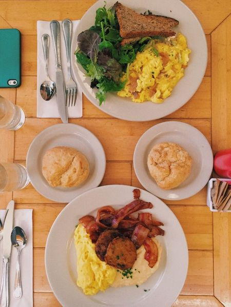 Don't stop til you get enough Breakfast Breakfast Of Champions Cheese Grits Biscuits