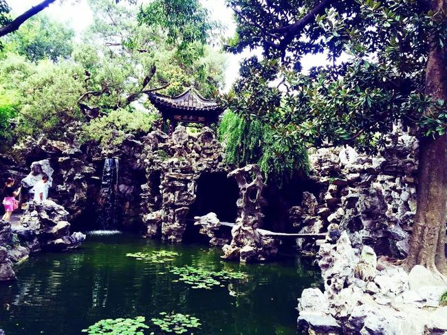 Yangzhou Water Reflection Nature Rock - Object River Day Beauty In Nature Tree Tranquility Outdoors No People Waterfront Forest Growth