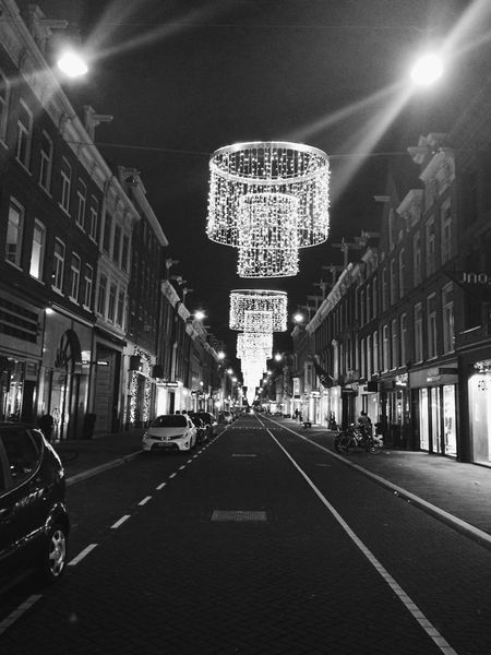 B&w Street Photography Blacckandwhite Streetsofamsterdam Iloveamsterdam Iamsterdam Black & White Amsterdam Christmas Lights Feeling Thankful Happy Day Your Amsterdam