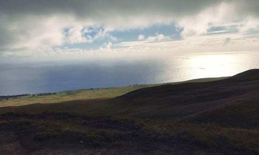 Easter Island Isla De Pascua Vulcano Sky Cloud - Sky Beauty In Nature Water Scenics - Nature Tranquility Sea Tranquil Scene