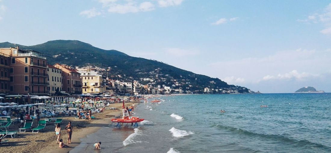 Sea Water Vacations Large Group Of People Tourist Beach Travel Destinations Tourism Weekend Activities Italy🇮🇹 Liguria,Italy Bellitalia Italia BELLA Nature Relax Alassio