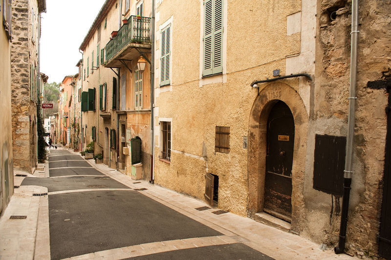 Architecture Building Building Exterior Built Structure City Culture Exterior Façade Historic House Leading Narrow Old Perspective Residential Building Residential Structure Street Valbonne Wall Window