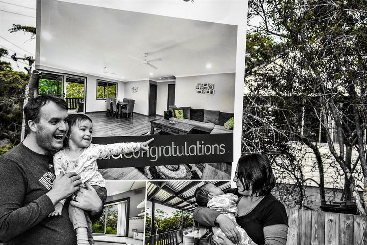 The grass is greener when you now own it Portrait Home Sweet Home ♥ New Home Check It Out Life Is Good Excitement Children Investment In The Future Text Goals And Achievements New Beginnings Family_ Future Vision Moving Up First Home New Home Rewards Of Hard Work Celebration Creative Edit Sign Congratulations Signs_collection The Portraitist - 2018 EyeEm Awards Real People Black And White Collection  Children_collection Home Sweet Home People_collection What Matters Most Look ! (: