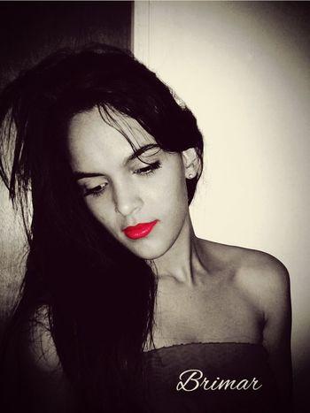 Mi hermosa prima 😍 First Eyeem Photo Followme Linda Sexygirl Labial Labios Rojos