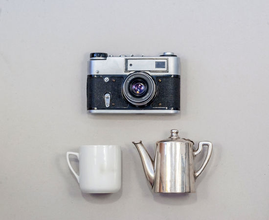 Arrangement Camera Camera - Photographic Equipment Close-up Crockery Cup Digital Camera Indoors  Kitchen Utensil Metal Mug No People Old Photographic Equipment Photography Themes Retro Styled Silver Colored Steel Still Life Studio Shot Technology White Color