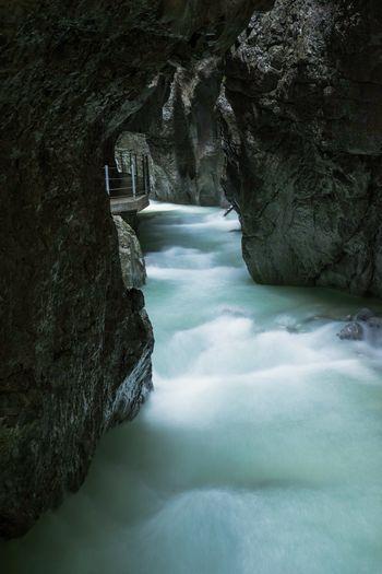 Waterfall Water Nature Outdoors River Beauty In Nature Scenics No People Motion Power In Nature Partnachklamm Klamm Fluss Wasserfall Longexposure Stacking Blending Blendingphotos Photoshop Alps Alpen