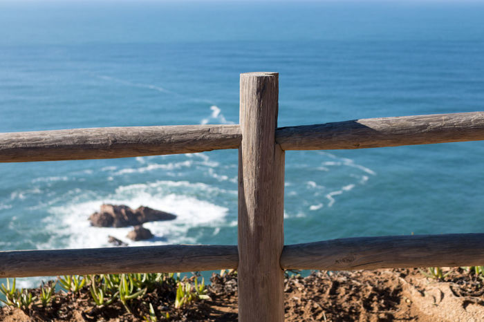 Wooden Fence Cliffside Eye4photography  EyeEm Best Shots EyeEm Seaside Waves, Ocean, Nature EyeEmBestPics From My Point Of View Wooden Post EyeEm Nature Lover Light And Shadow EyeEm Gallery Taking Photos Portugal