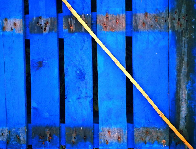 Blue Close-up Damaged Full Frame Geometric Shape Palet Vibrant Color